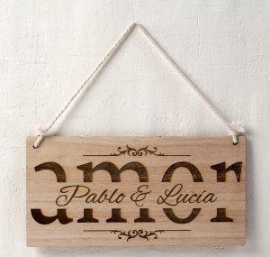 Cartel madera personalizado