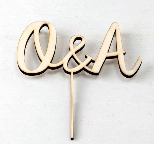 Cake topper iniciales personalizadas boda