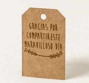 "Etiqueta kraft ""Gracias"""