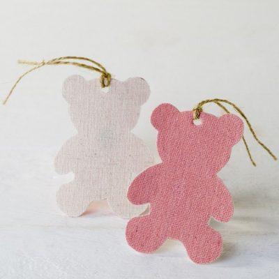 Etiqueta osito rosa