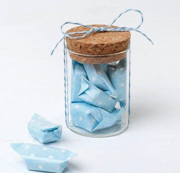 Tarro cristal con caramelos