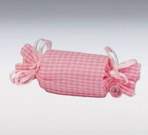 Bolsa cuadros vichy rosa