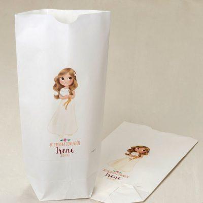 Bolsas papel comunión niña personalizadas