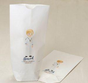 Bolsas papel comunión niño personalizadas