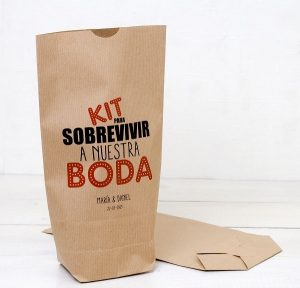 Bolsas Kraft kit emergencia boda