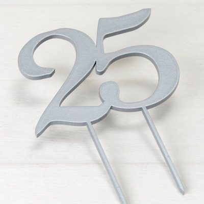Cake Topper 25 aniversario