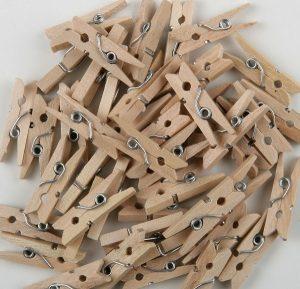 Pinzas de madera lote 100 unds