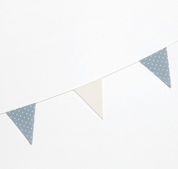 Guirnalda bandera tela azul