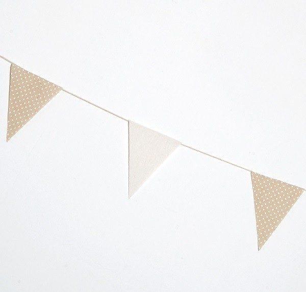 Guirnalda bandera tela beige