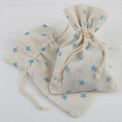 Bolsa de algodón estrellas azules