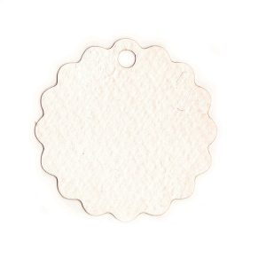 Etiqueta blanca redonda