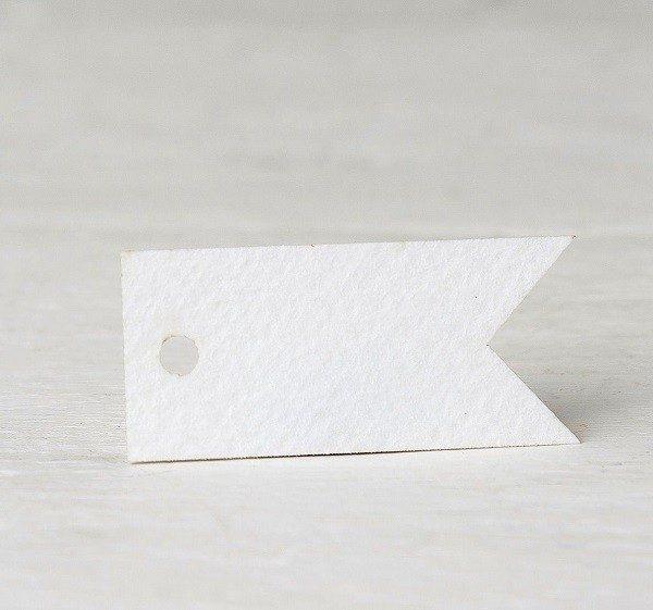 Etiqueta banderola blanca