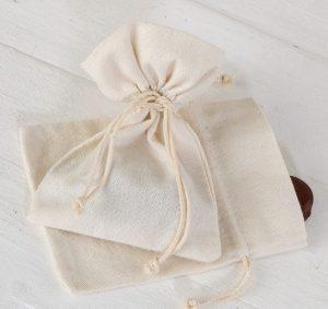 Bolsa de algodón marfil
