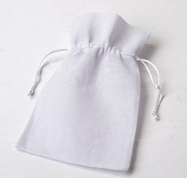 Bolsa de algodón blanca