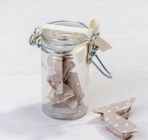 Tarro cristal vintage con caramelos