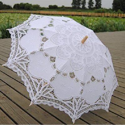 Paraguas de encaje novia
